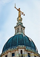 Lady Justice on the dome of the Old Bailey