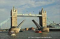 Tower Bridge closing