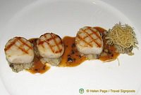Scallops for entree at Clos Maggiore