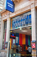 An internet centre in the West End