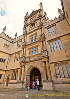 The Tower of the Five Orders is the main entrance to the Bodleian Library
