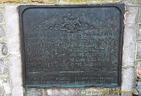 Tablet commemorating the arrival of the N.C.4. in Plymouth Sound