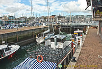 Sutton Harbour Marina lock