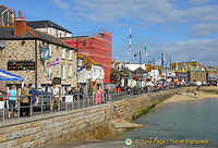 The Lifeboat Inn and many other restaurants along St Ives harbourfront