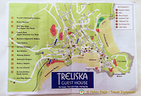 Map of St Ives provided by Treliska Guest House