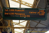 At Plymouth Station, waiting for our train to St Ives