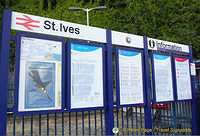Train schedule and info at St Ives railway station