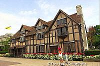 This building was almost entirely reconstructed in the 19th century in Tudor style[Stratford-upon-Avon - England]