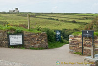 Entrance to Tintagel Castle, legendary birthplace of King Arthur