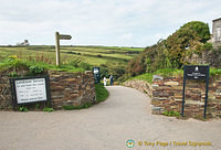Entrance to Tintagel Castle ruins