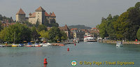View of  Château Annecy from Lake Annecy