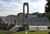 Remains of Arles' Roman theatre