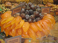 Candied figs and melon - a specialty from Carpentras