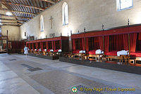 Great Hall of the Poor with 28 four-poster beds