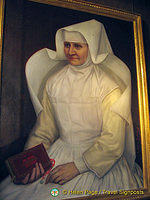 Portrait of a nun at the Hospices de Beaune