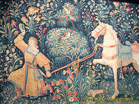 One of the many tapestries