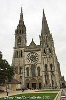 Chartres Cathedral west facade - main entrance