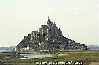 Mont-St-Michel is now linked to the mainland by a causeway [Mont-St-Michel - France]