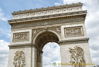 Arc de Triomphe - the biggest arch in the world
