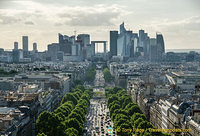 Distant view of La Défense