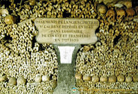 Bones from the old St Laurent cemetery deposited in the west ossuary in 1848 and transferred here on 7 Feb 1859
