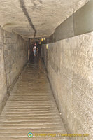 A tunnel in the Catacombes