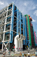 15,000 tonnes of steel were used in the Centre Pompidou framework