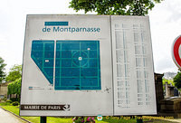 Map of Montparnasse cemetery