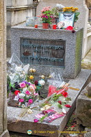 Jim Morrison's grave is a much visited site