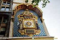 Th clock on the Conciergerie Clock Tower