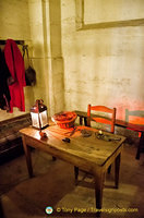 Preparation room where executioner's assistant prepares condemned prisoners for their execution.