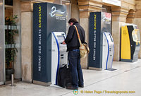 Eurostar ticket machine