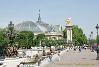 The Grand Palais as seen from the Pont Alexandre III