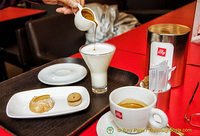 Our great cups of Illy coffee