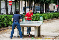 Serious table tennis by these two