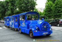 The blue tourist train