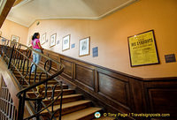 Some works of Victor Hugo along the staircase