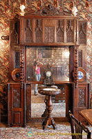 Ornate furniture in Juliette Drouet's dining room in Guernesey