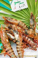 Fresh king prawns - gambas