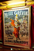 A classic poster of the Musée Grévin's orchestral concerts