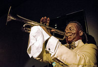 Satchmo blowing his trumpet