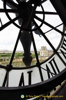 View of the giant clock from inside the Musée d'Orsay