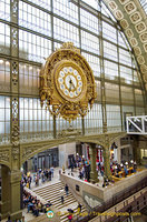 Magnificent golden clock which kept time for train travellers
