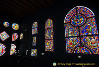 Stained glass gallery in the Musée du Moyen Age