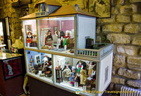 Dollhouse with dolls from different countries