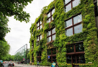 A vertical garden on the facade of the Quai Branly Museum