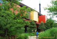 Colourful architecture of the Quai Branly Museum