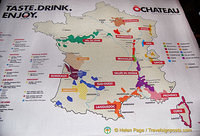 Map of French wine regions