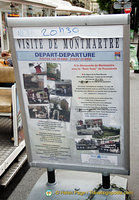 About the Montmartre petit train