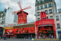 The world-famous Moulin Rouge